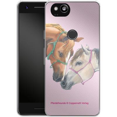 Google Pixel 2 Silikon Handyhuelle - Pferdefreunde Freundschaft von Pferdefreunde