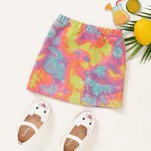 Toddler Girls Tie Dye Skirt