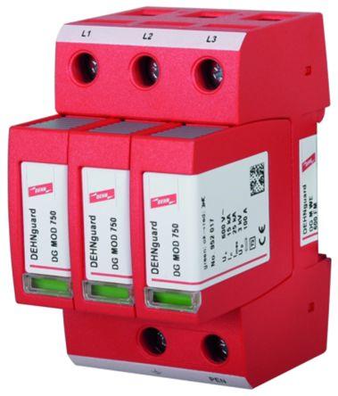 Dehn DG Series 600 V Maximum Voltage Rating 15kA Maximum Surge Current Type 2 Arrester, DIN Rail Mounting