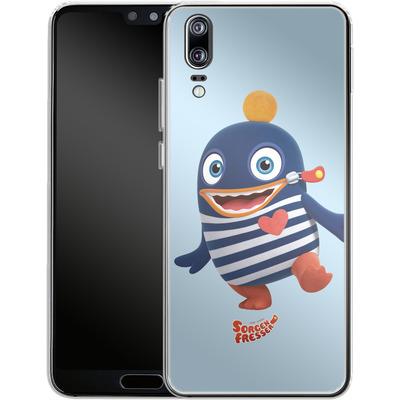 Huawei P20 Silikon Handyhuelle - Sorgenfresser Ping von Sorgenfresser