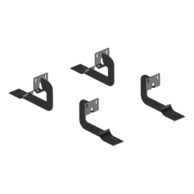 Aries 4505 Carbon Steel Carbide Black Powder Coat Mounting Brackets for 6