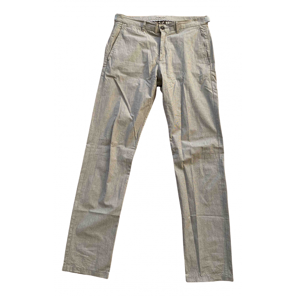 Bottega Veneta \N Beige Cotton Trousers for Men 48 IT