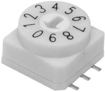 KNITTER-SWITCH , 10 Position, BCD Rotary Switch, 25 mA @ 24 V dc, Through Hole