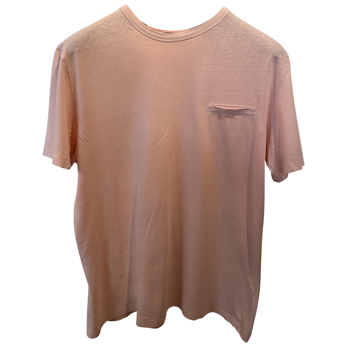 T By Alexander Wang \N Pink Cotton T-shirts for Men M International