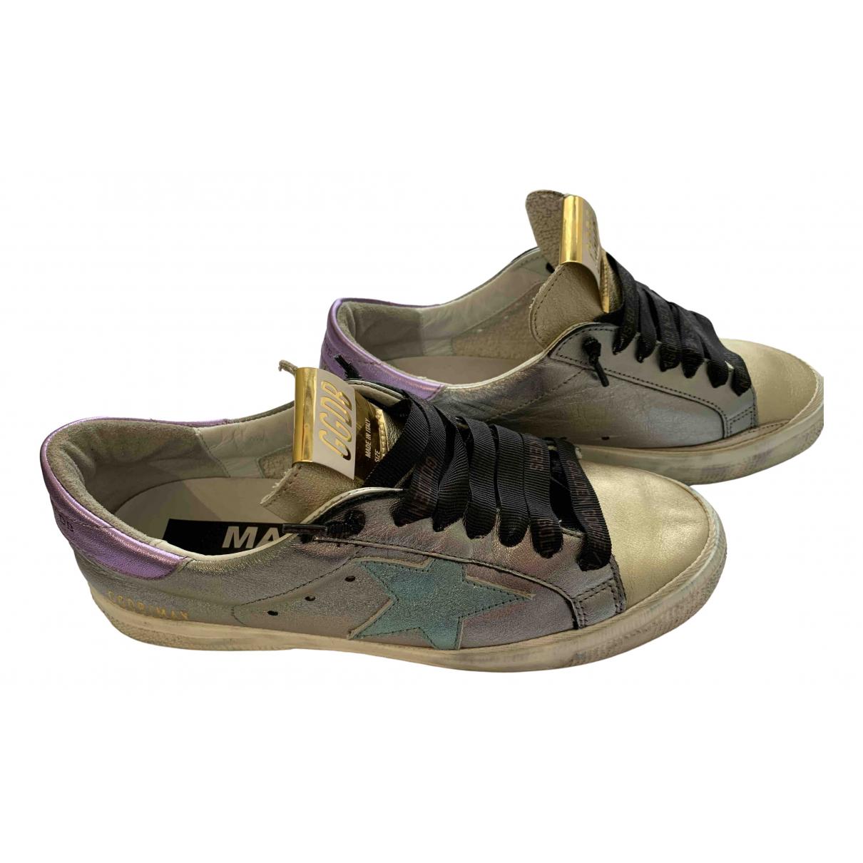 Golden Goose May Sneakers in  Gold Leder