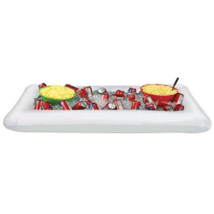 Pack of 6 White Multipurpose Inflatable Buffet Coolers 53.75
