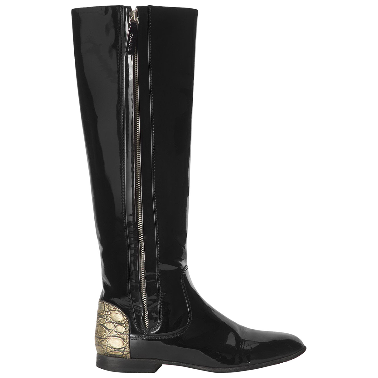 Chanel \N Black Patent leather Boots for Women 5 UK