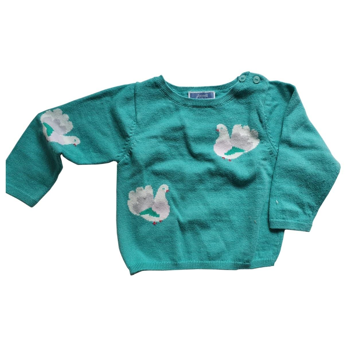 Jacadi - Pull   pour enfant en coton - turquoise