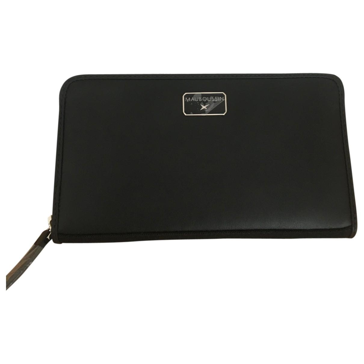 Mauboussin - Portefeuille   pour femme en cuir - noir