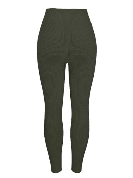 Milanoo Women\'s Clothing Yoga Pants Polyester Green Yoga Leggings