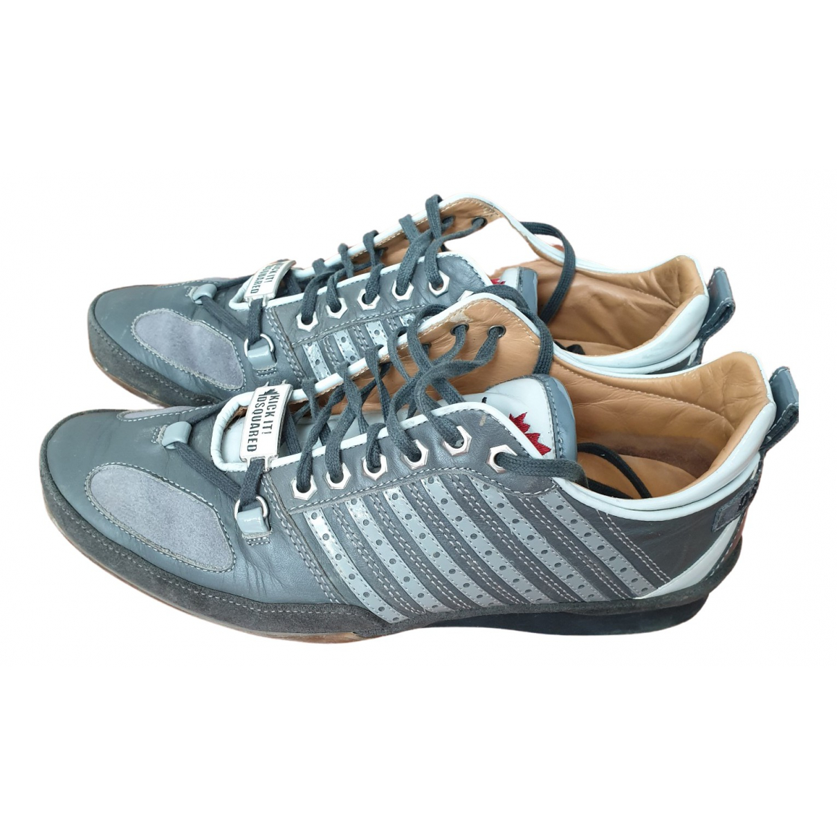 Dsquared2 251 Sneakers in  Grau Leder