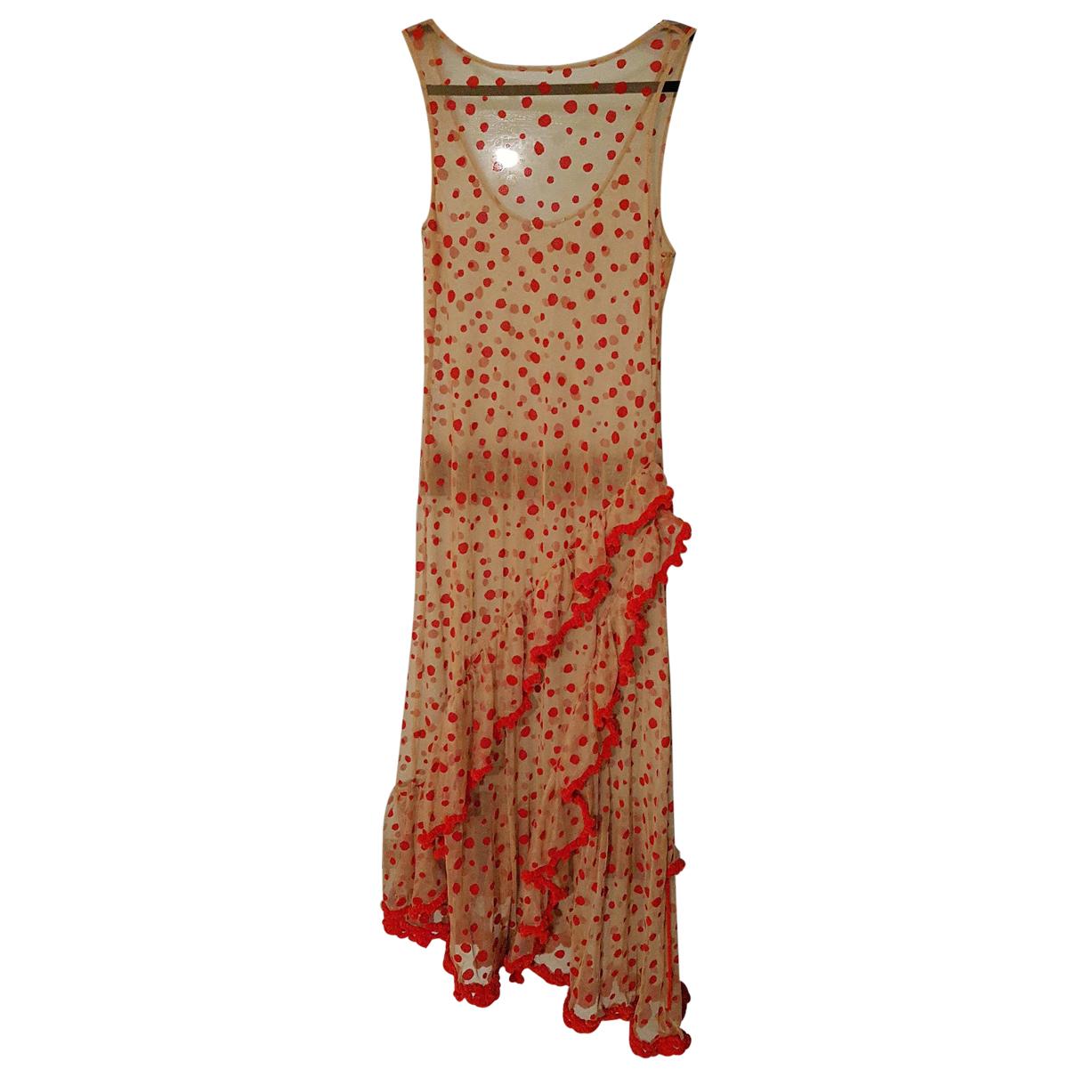Non Signé / Unsigned N Beige dress for Women M International