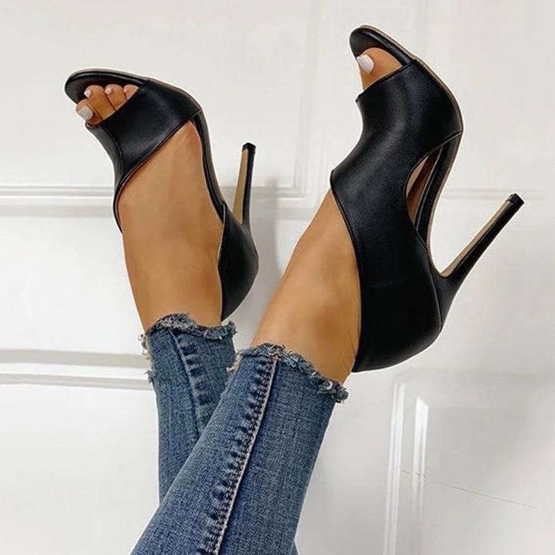Ericdress Slip-On Stiletto Heel Heel Covering Hollow Sandals