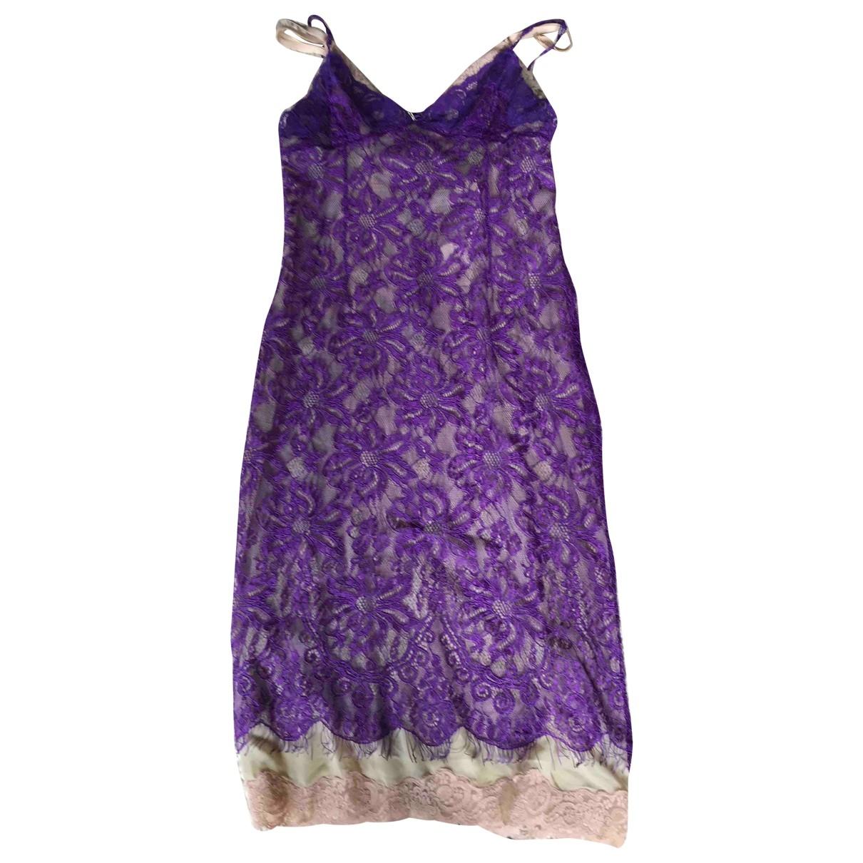 D&g \N Purple Lace dress for Women 44 IT