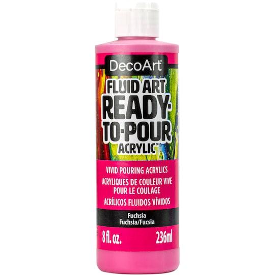 Decoart® Fluid Art™ Ready-To-Pour Acrylic Paint By Deco Art in Fuchsia | 8 oz | Michaels®
