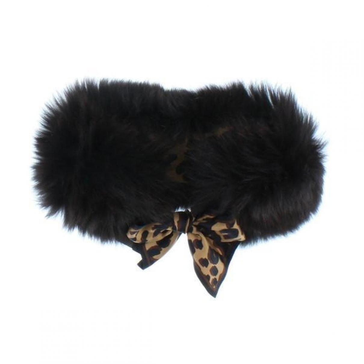 Louis Vuitton - Foulard   pour femme en fourrure - noir