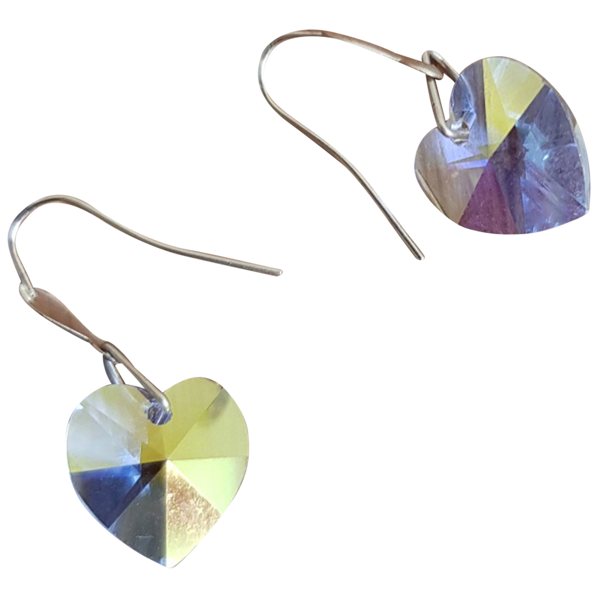 Non Signe / Unsigned Motifs Coeurs OhrRing in  Bunt Gelbgold