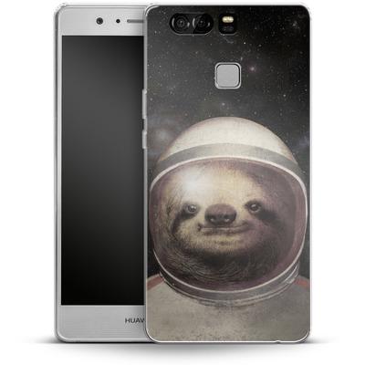 Huawei P9 Silikon Handyhuelle - Space Sloth von Eric Fan