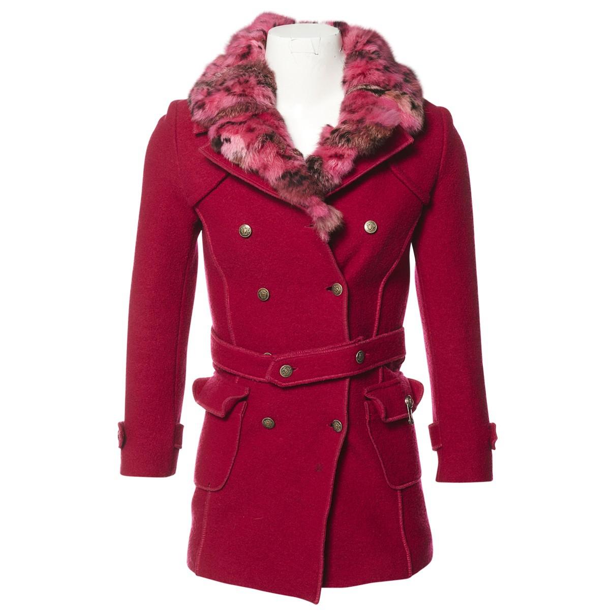 Versace N Pink Wool coat for Women S International