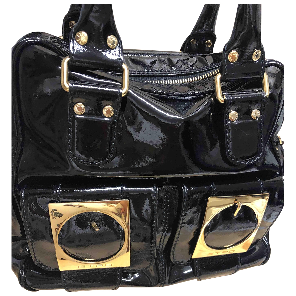 Etro \N Black Patent leather handbag for Women \N