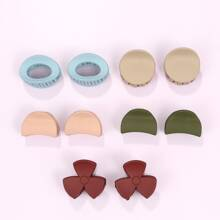5pairs Solid Hair Claw