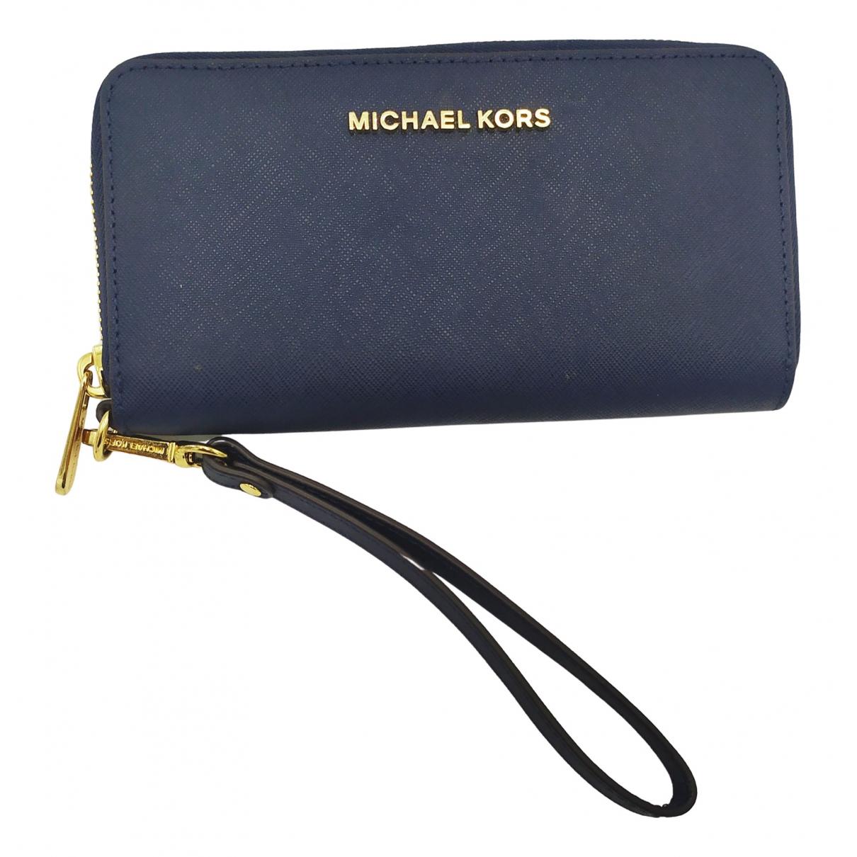 Michael Kors \N Blue Leather wallet for Women \N
