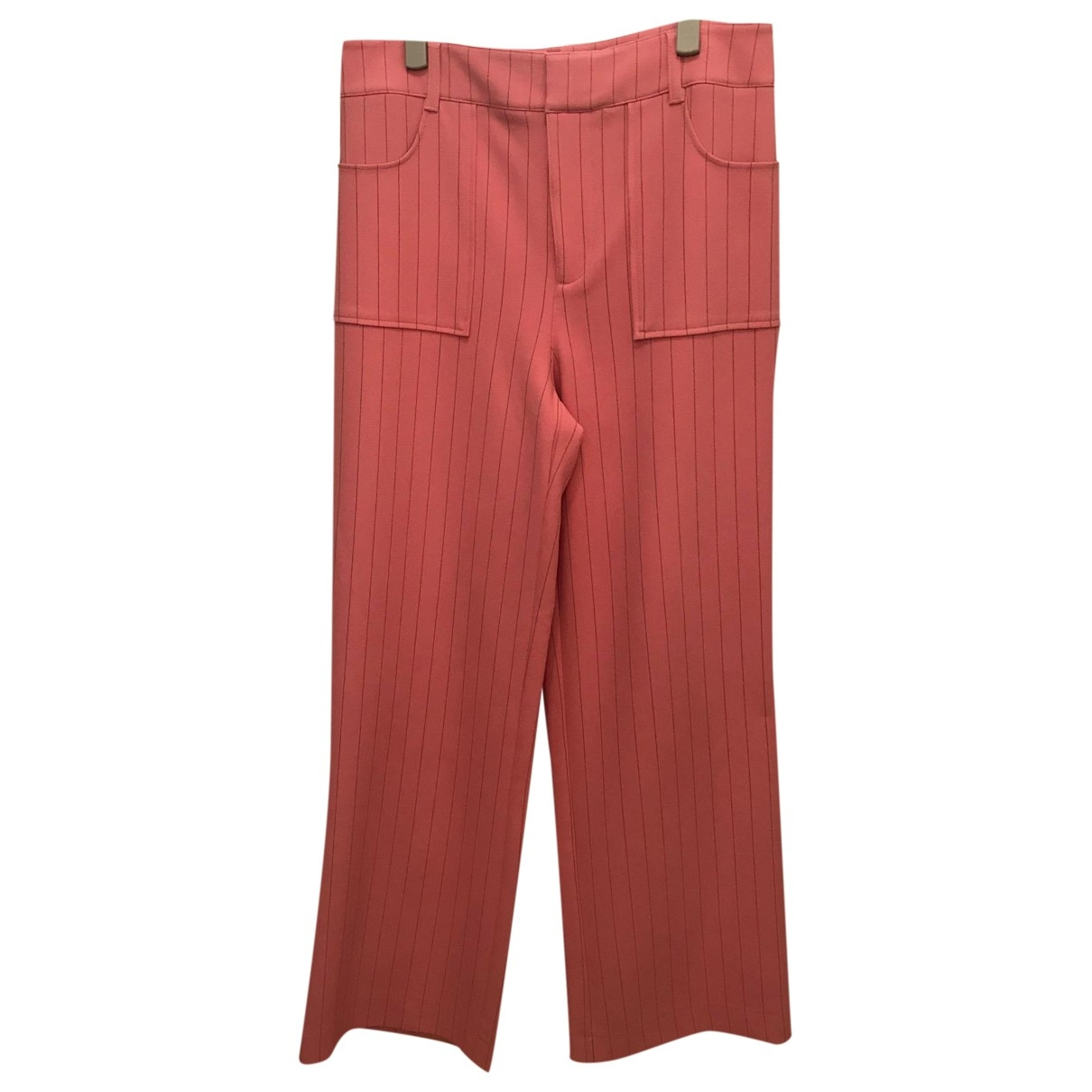 Ganni Spring Summer 2019 Pink Trousers for Women 40 FR