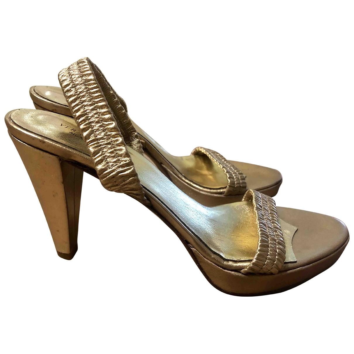 Miller - Sandales   pour femme en cuir - dore