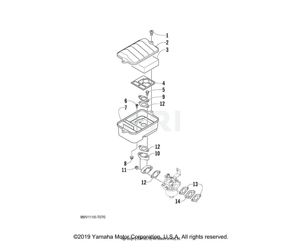 Yamaha OEM 7CN-E4468-01-00 PLATE, ELEMENT FITTING