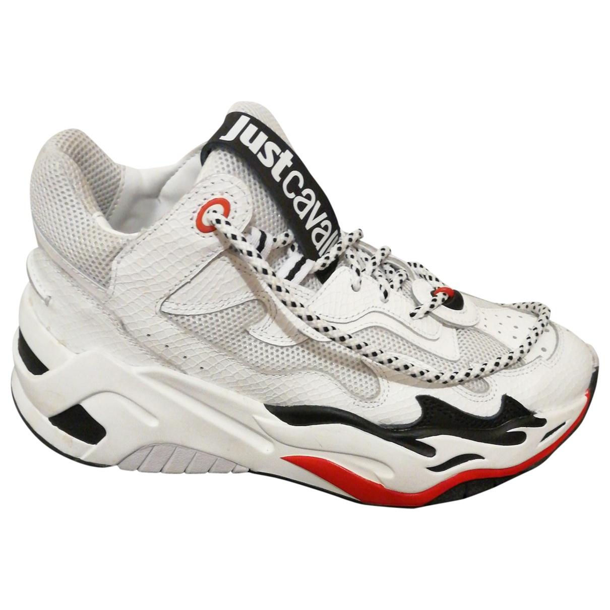 Just Cavalli \N Sneakers in  Weiss Leder