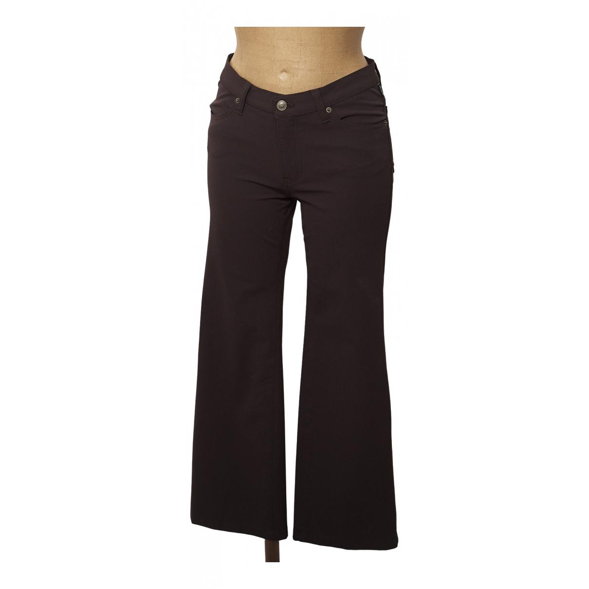 Pantalon en Elastano Marron Versace Jeans