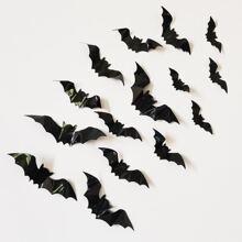 16pcs Halloween 3D Bat Wall Sticker