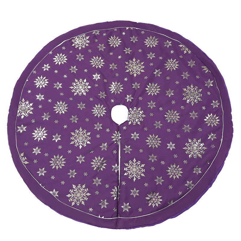 48 Multi-colored Sparkling Snowflake Tree Skirt