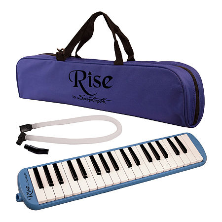 Rise by Sawtooth 37-key Piano Style Melodica, One Size , Blue