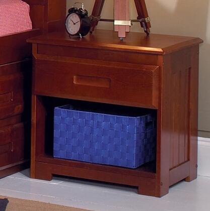 2860M 23 Nightstand with One Drawers  Bottom Shelf and Molding Details in