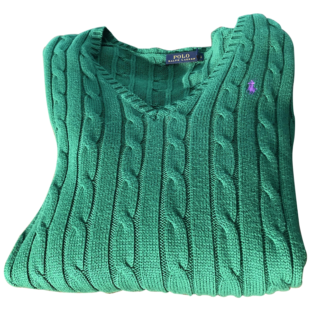 Polo Ralph Lauren \N Green Cotton Knitwear for Women L International