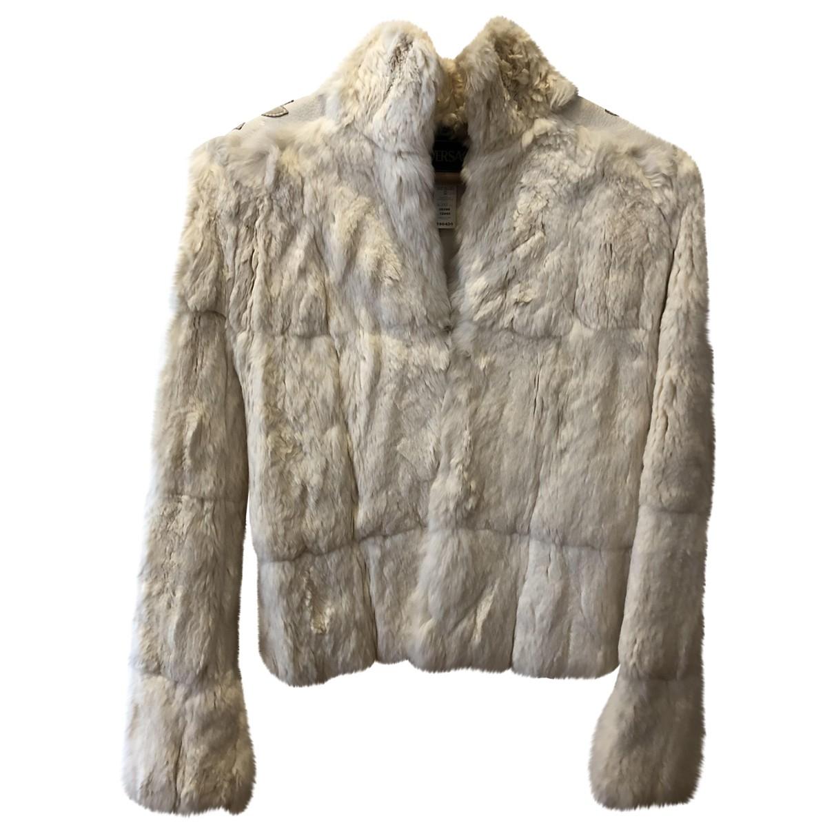 Versace - Manteau   pour femme en chinchilla - blanc