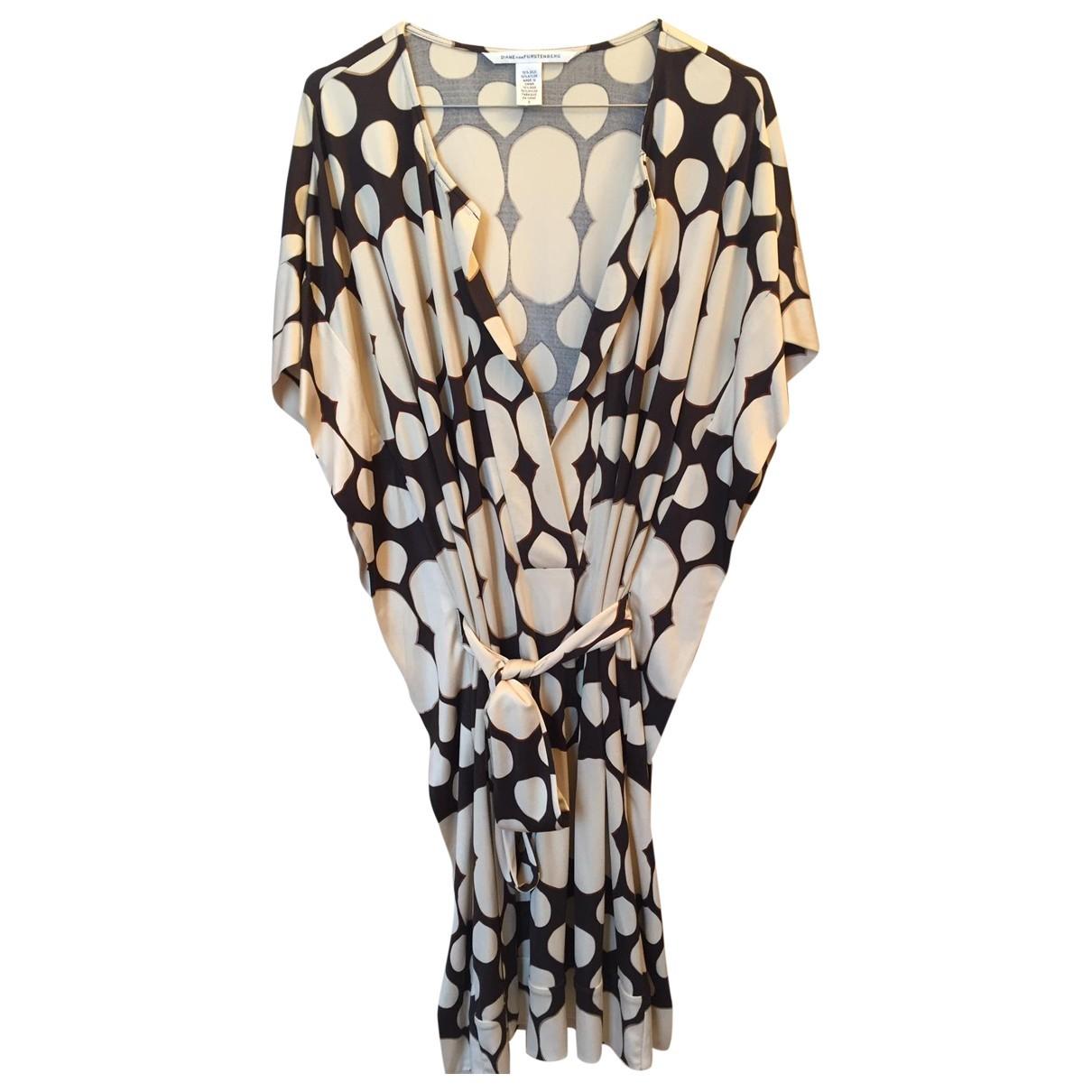 Diane Von Furstenberg \N Kleid in  Beige Seide