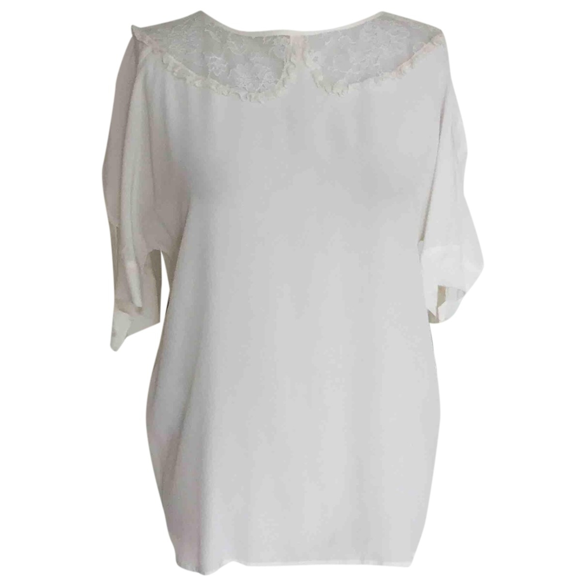 Miu Miu \N Beige Silk  top for Women 40 IT