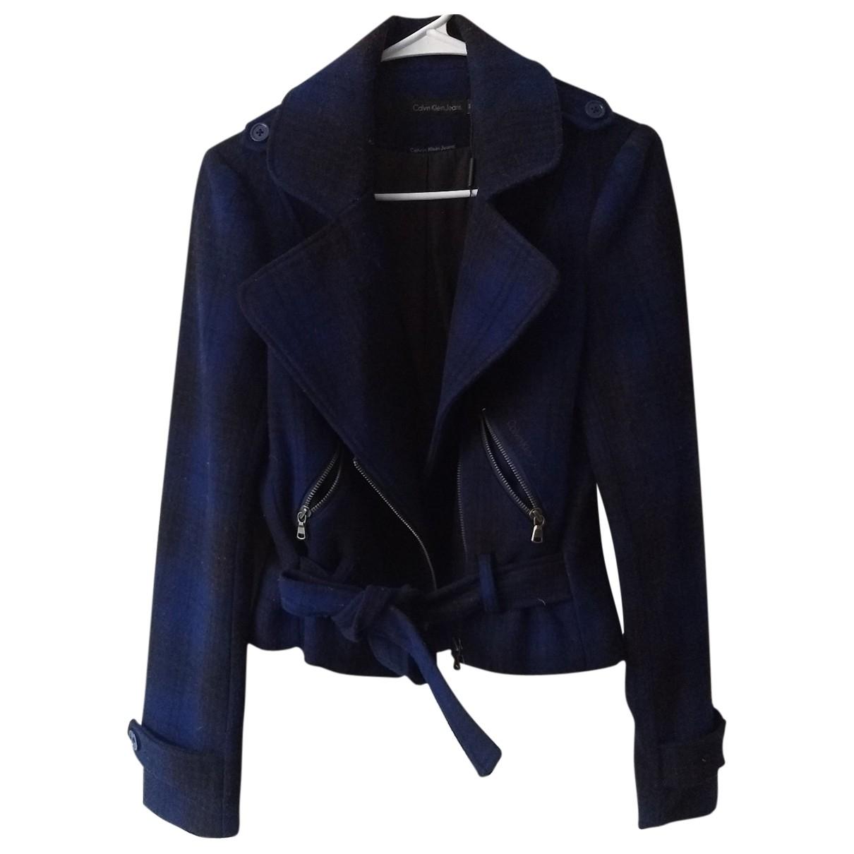 Calvin Klein \N Jacke in  Blau Wolle