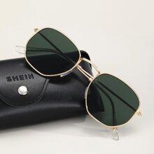 Maenner Sonnebrille mit Metall Rahmen