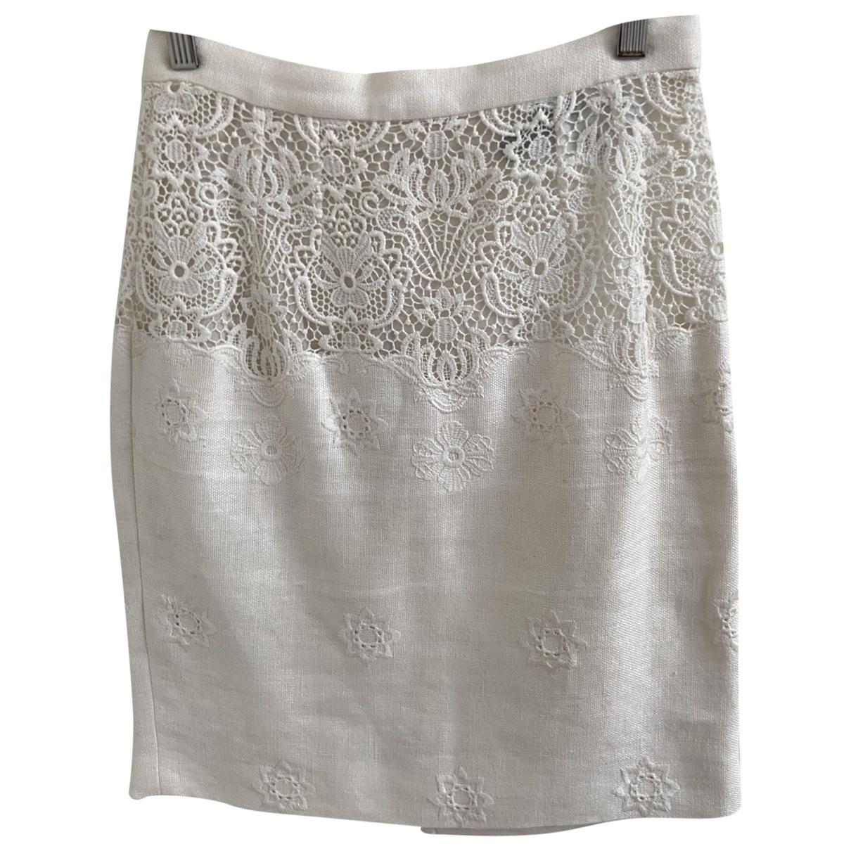Dolce & Gabbana - Jupe   pour femme en lin - ecru