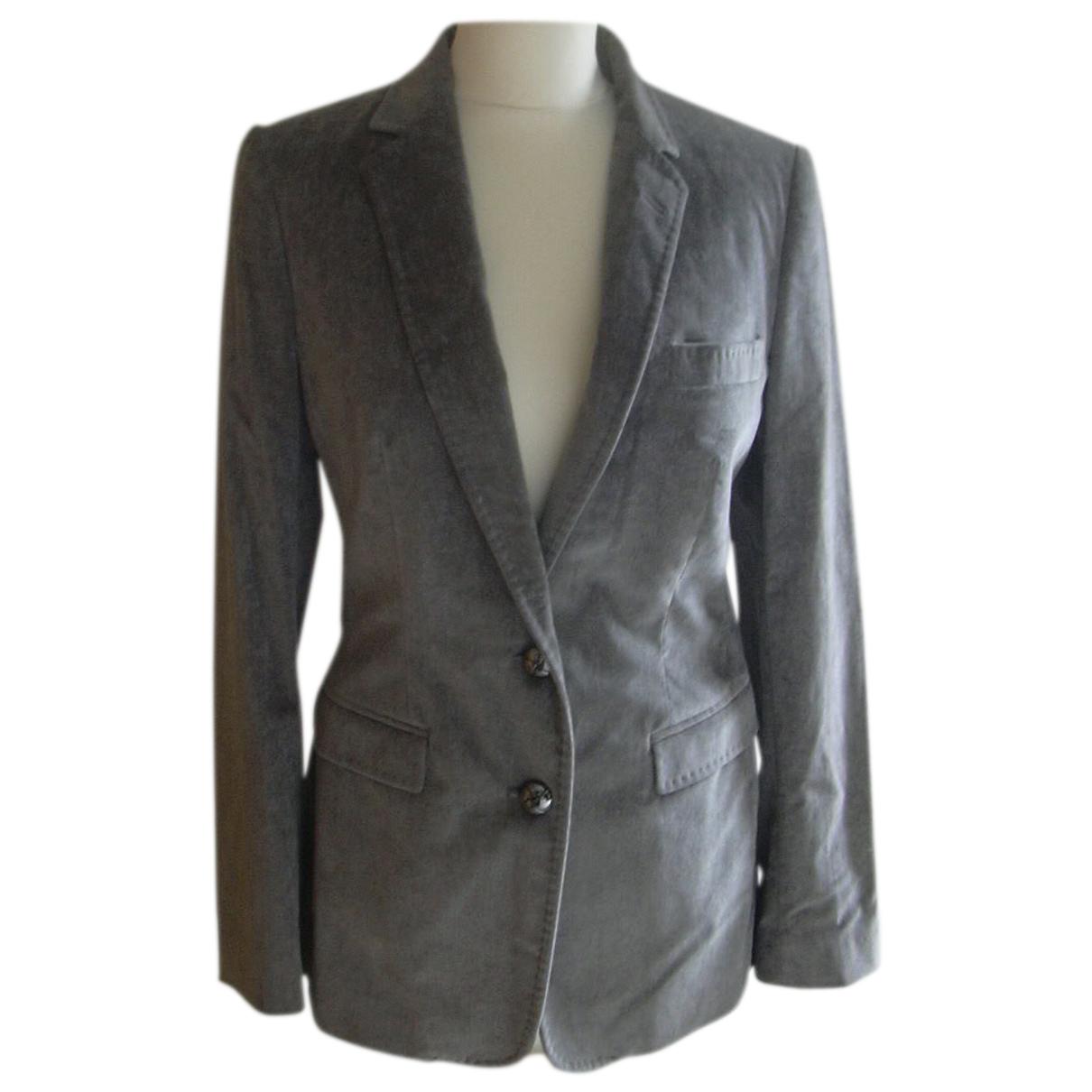 Dolce & Gabbana N Grey Velvet jacket for Women 42 IT