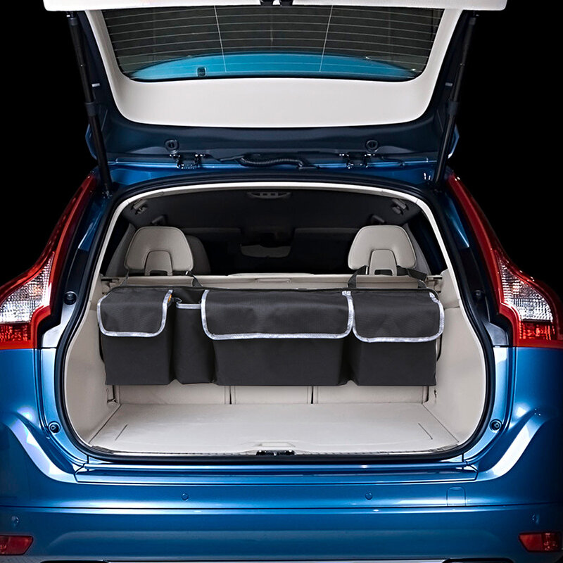 Multi-Function Oxford Cloth Car Storage Bag Car Seat Storage Container Hanging Bag Outdoors Bag