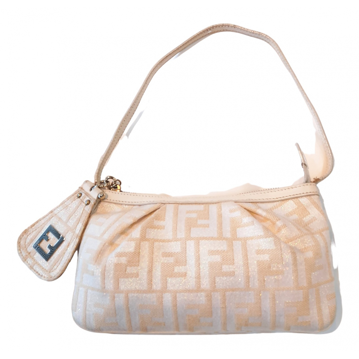 Fendi \N Clutch in  Weiss Leinen