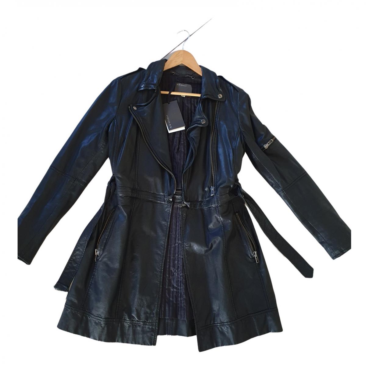 Muubaa N Black Leather Leather jacket for Women 12 UK