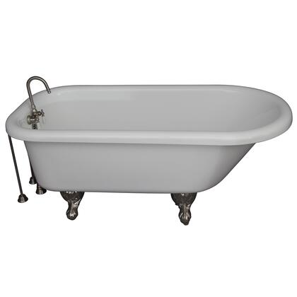 TKADTR60-WBN4 Tub Kit 60 AC Roll Top  Tub Filler  Supplies  Drain-Brush
