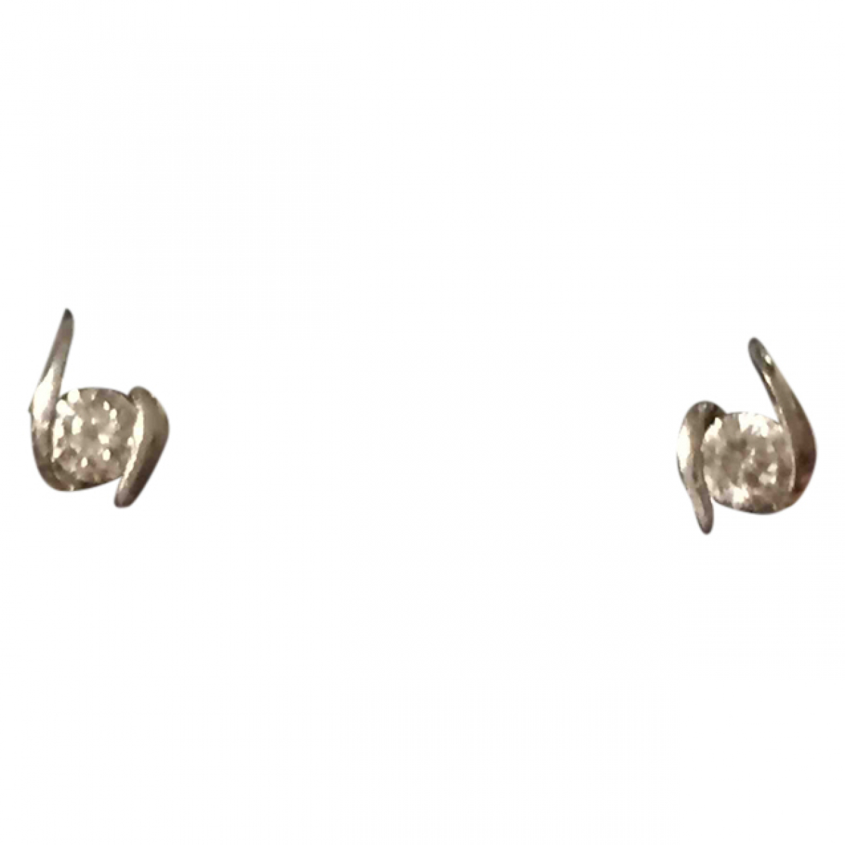Non Signé / Unsigned \N White gold Earrings for Women \N
