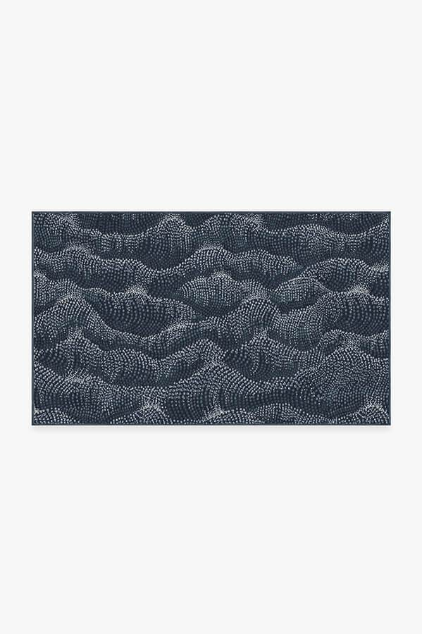 Washable Rug Cover & Pad   Sela Navy Rug   Stain-Resistant   Ruggable   3'x5'