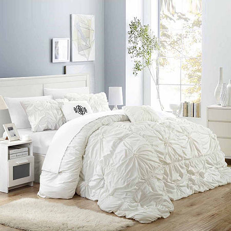 Chic Home Halpert 6-pc. Midweight Embroidered Comforter Set, One Size , White